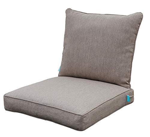 Qilloway Outdoor Chair Cushion Set,Outdoor Cushions for Patio Furniture.Tan/Grey