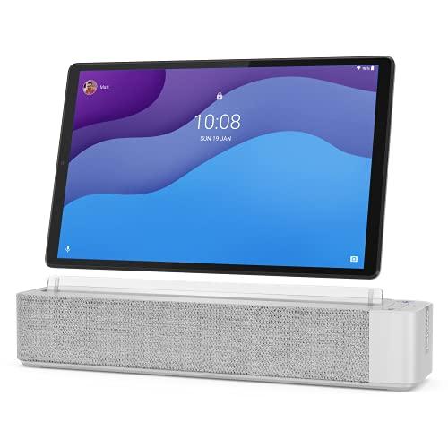 Lenovo Smart Tab M10 FHD Plus (2e gén.) tablette tactile 10.3' avec Alexa (MediaTek Helio P22T 8Coeurs, 4 Go de RAM, eMMC 64 Go, Android, Wifi, Bluetooth) + Station d'accueil / Enceinte connectée