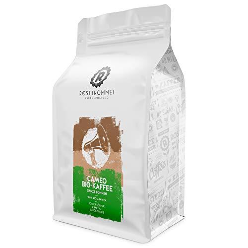 Kaffeebohnen CAMEO - Bio - Schokoladig - handgeröstet - ideal für Vollautomat, French-Press & Filterkaffee (500 Gramm)