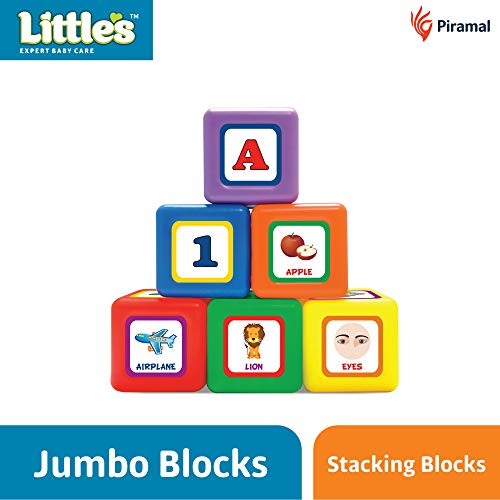 Little's 6-in-1 Puzzle Blocks, Multi Color
