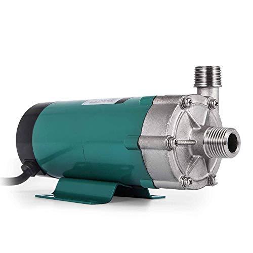 FlowerW Bierpumpe mit Lebensmittelqualität Edelstahl Kopf Magnetic Brewing Bierpumpe mit 1/2 Zoll MPT Hause Brauanlage Bierpumpe (MP-15RP) (MP-15RP)