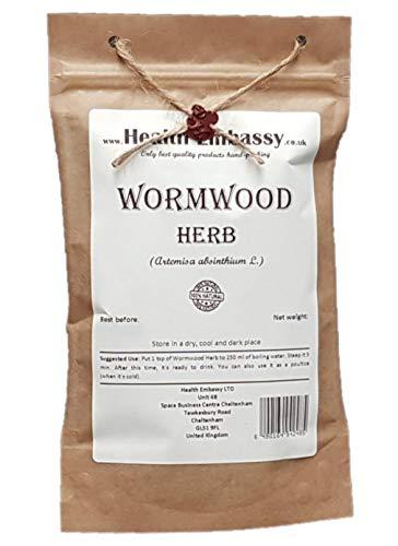 Hierba de Ajenjo 100g ( Artemisa Absinthium L. - Herba Absinthii ) / Wormwood Herb 100g - Health Embassy - 100% Natural