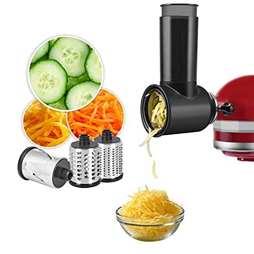 Accessori per affettatrice/trituratore KitchenAid, con tre lame, adatti per verdure tritate, formaggio e insalata, colore nero