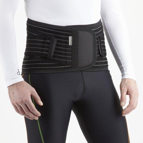 PhysioRoom RückenStütze Grau - Leicht & Atmungsaktiv - Rückengurt Rückenstützgürtel bei Bandscheibenvorfall & Hexenschuss
