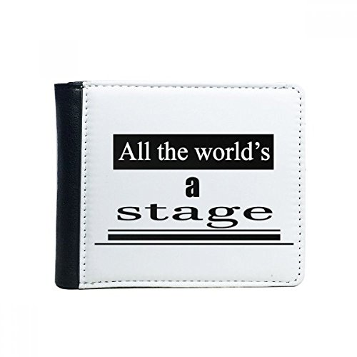 Shakespeare World is een podium Flip Bifold Faux lederen portemonnee multifunctionele kaart portemonnee cadeau