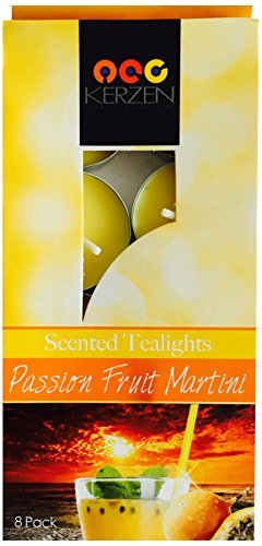 "KERZEN: ""Light One. Transform All. - Scented Tealights - Eight (8) Pack - Passion Fruit Martini"