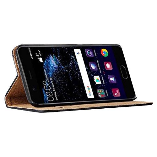 Eximmobile - Book Case Handyhülle für Huawei Ascend Y530 mit Kartenfächer in Schwarz | Schutzhülle aus Kunstleder | Handytasche als Flip Case Cover | Handy Tasche | Etui Hülle Kunstledertasche - 3