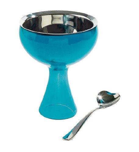 Alessi Big Love Copa para Helado, Azul, estándar