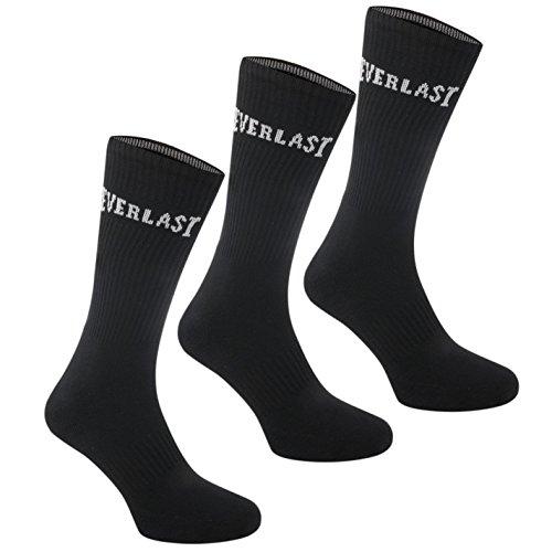 Everlast Herren 3 Paar Socken Schwarz 40-46