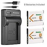 Kastar Battery (X2) & Slim USB Charger for Sony NP-BN1 NPBN1 BC-CSN and Cyber-Shot DSC-QX10 QX30 QX100 DSC-TF1 DSC-TX10 TX20 DSC-TX30 DSC-W530 DSC-W570 DSC-W650 DSC-W800 DSC-W830 Digital Camera +More