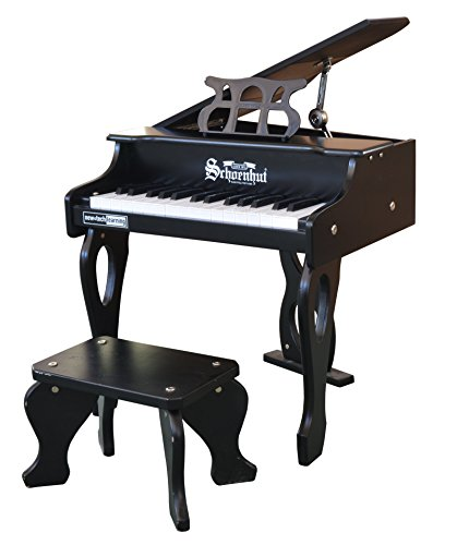 Schoenhut 30 Key Digital Baby Grand Piano, Black