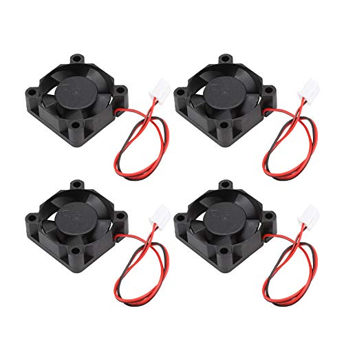 Hyuduo1 Enfriador de Impresora 3D, 4PCS Accesorios de Impresora 3D, Mini Ventilador de enfriamiento Ventilador de Escape pequeño 24V, Bajo Nivel de Ruido, Resistente al Agua, Ligero.