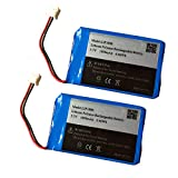 3.7v 1800mAh Battery for PS4 Controller Battery Replacement LIP1522 1000mAh Bateries Pack (Cuh-ZCT1U Battery 2Pack)