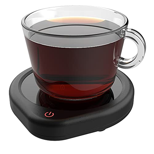 Coffee Mug Warmer with Auto Shut Off for Desk, Cup Warmer Smart Temperature Settings, Electric BeverageTea Water MilkWarmer for All Cups and Mugs, Heating PlateCandle Wax Warmer(No Cup)