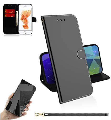 Snow Color Cover iPhone 6S   iPhone 6 Portafoglio, Flip Custodia Portafoglio in PU,[Funzione Staffa]con Slot per Schede e Chiusura Magnetica per Apple iPhone 6S   6 - COTX030003 Nero