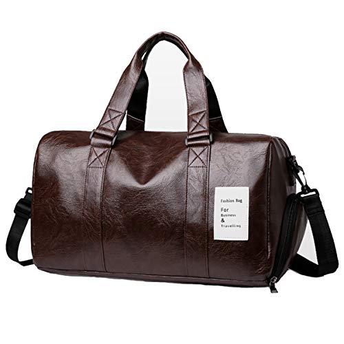 Vohoney - Borsa sportiva impermeabile in pelle PU, borsa da viaggio Week-End Sport, grande capacità, per uomo e donna, con scomparto separato