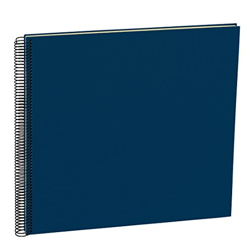 Semikolon (352929) Spiral Album Large marine (blau) - Spiral-Fotoalbum mit 50 Seiten u. Efalin-Einband -Fotobuch mit cremeweißem Fotokarton