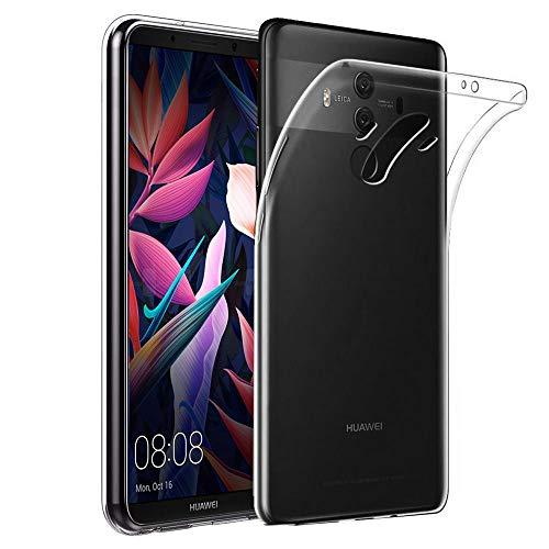 ebestStar - kompatibel mit Huawei Mate 10 Pro 2017 Hülle Mate 10 Pro 2017 Handyhülle [Ultra Dünn], Durchsichtige TPU Schutzhülle, Soft Flex Silikon, Transparent [Phone: 154.2x74.5x7.9mm 6.0