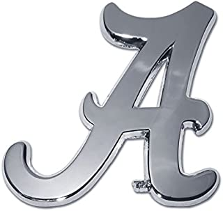 University of Alabama Crimson Tide Metal Auto Emblem - Many Available! Roll Tide! (Chrome)