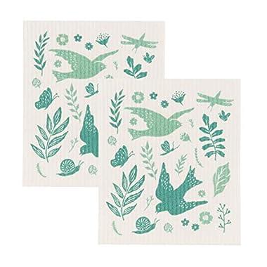 Now Designs 2000025aa Swedish Dishcloths, Set of 2, Meadowlark Print