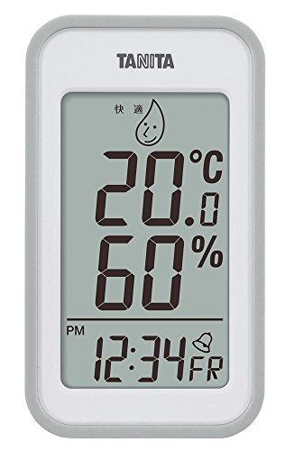 タニタ(Tanita) 温湿度計 デジタル グレー TT-559 GY 壁掛け 卓上 マグネット