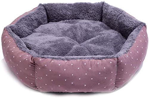 Leifeng Tower - Cama de lujo para perros, cama para gatos, colchón para perros, tienda de campaña cómoda y suave, nido redondo para gatos adecuado para perros y gatos, nido para mascotas extraíble y