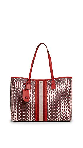Tory Burch Women's Gemini Link Canvas Tote, Liberty Red Gemini Link, One Size
