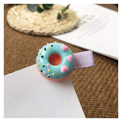 junfeng Clips de Pelo 1 unid Chica Linda Coloreado Donut Dibujos Animados Horquilla paletas de Pelo Clip de Pelo Accesorios para el Cabello (Color : 7)