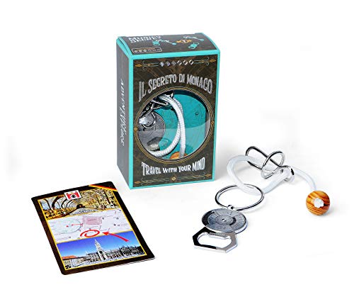 Logica Juegos Art. Secreto De Mónaco - Rompecabezas de Metal - Dificultad 3/6 Difícil - Cast Puzzle - Serie de Viajeros