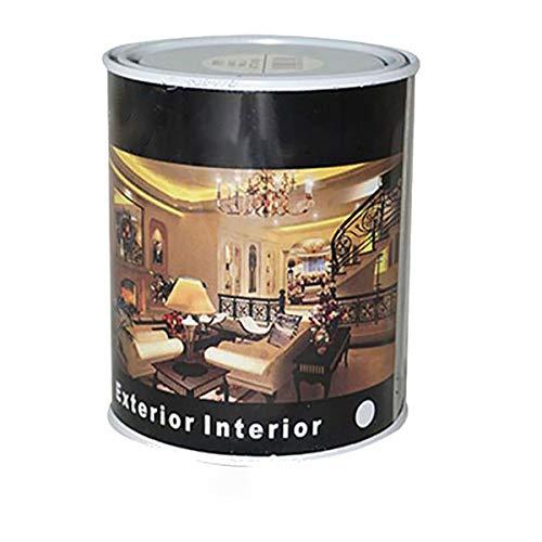 Pintura Esmalte al Disolvente para Madera y Metal, Pintura Alquidica de Rápido Secado para Superfícies Interiores y Exteriores(Blanco Mate, 375 ML)