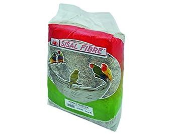 SISAL FIBRE Fond de Cage Animale/Végétal pour Oiseau 500 g