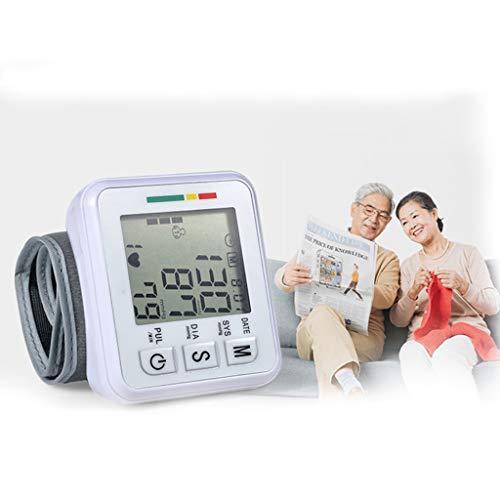 Monitor Presión Arterial Muñeca Parlante, Estuche Portátil Preciso Esfigmomanómetro Integrado Ajustable, 2 Usuarios 198 Monitoreo Salud Memoria Lectura