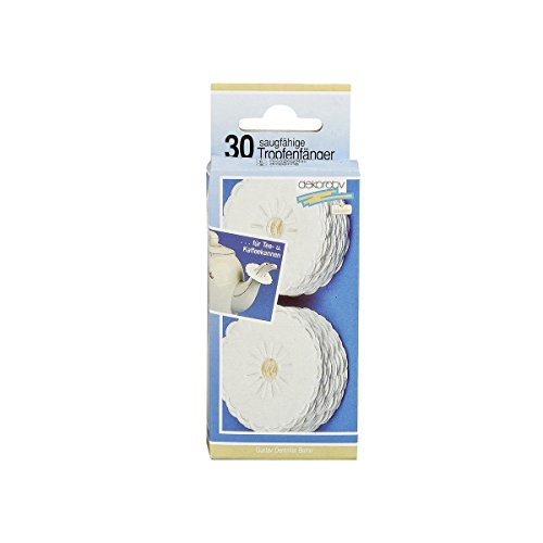 Papier-Tropfenfänger, saugfähig, Ø 5cm, 30-teilig, weiß (1 Set)