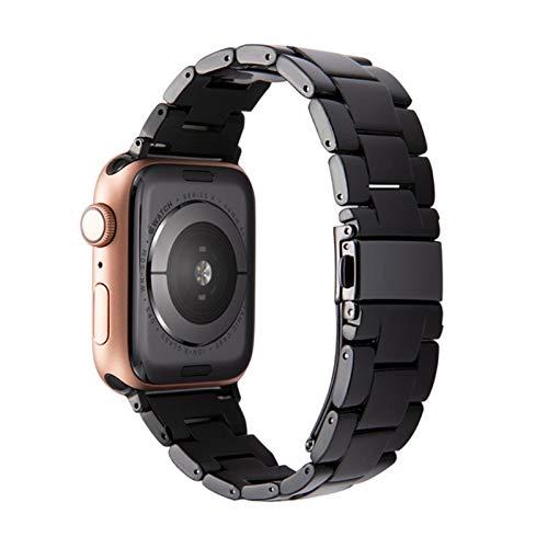 Correa de reloj de resina para apple watch 6 5 se band 42mm 38mm acero transparente para iwatch 6 series 5 4 3 2 correa de reloj 44mm 40mm
