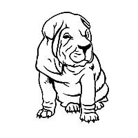 アウトドア ステッカー 9CM * 13.7CMシャーペイ犬防水カーステッカーバンパーウィンドウ装飾ブラック/シルバー アウトドア ステッカー (Color Name : Black)