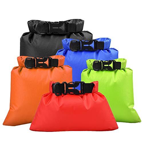 Lixada Pack of 3 Waterproof Portable Dry Bag Outdoor Ultralight Dry Sacks for Camping Backpacking Kayaking 1L2L3L Black x Blue x Orange x Green x Red15L25L3L35L5L