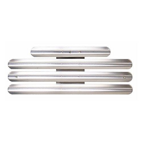 VANGUARD RIBBON MOUNTING BAR: 11 RIBBONS - METAL, Silver, Small