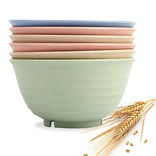 6 Pcs Unbreakable Cereal Bowl Sets. for Soup,Dessert and Salad - Easy Dishwasher Safe(6.7 inch)Cereal Bowls