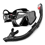 Professional Scuba Diving Mask and Snorkels Anti-Fog Goggles Glasses Diving Swimming Easy Breath Tube Set Black Pink