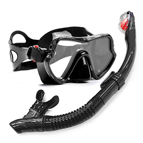 Professional Scuba Diving Mask and Snorkels Anti-Fog Goggles Glasses Diving Swimming Easy Breath Tube Set Blue