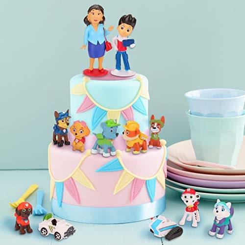 Adornos para tartas, 12 minifiguras, adornos para tartas, minifiguras, adornos para tartas, suministros para decoración de tartas para fiestas