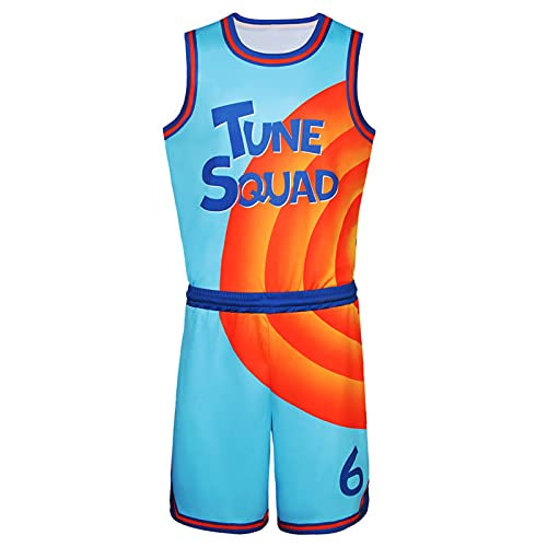DOUDOU Space 2 Movie # 6 Tune Squad Jersey Hombres Shorts Outfit Juventud 90s Baloncesto Uniforme Chaleco Shorts Set Ropa Deportiva Niños Adultos