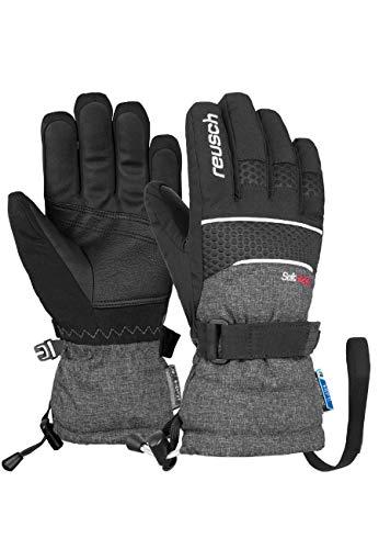 Reusch Unisex Fingerhandschuhe Connor R-TEX® XT Junior in sportlichem Schnitt black/black melange, 3