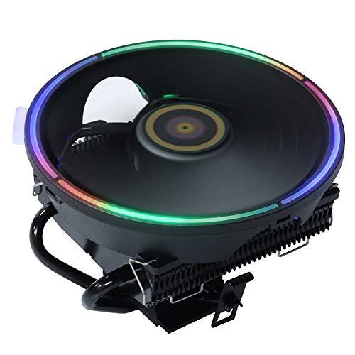 DS Black CPU Cooler, Aluminum Extrusion Cooling CPU Fan for Intel LGA...