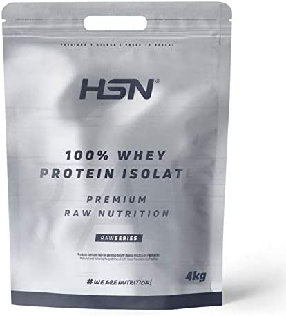 Proteína Aislada de Suero HSN | 100% Whey Protein Isolate | Proteína Sin Sabor en Polvo | Suplemento para Ganar Masa Muscular | Rica en BCAAs y ...