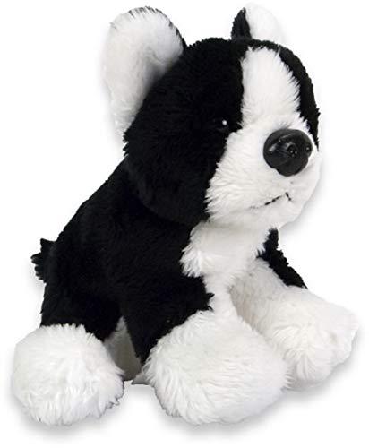 Plüsch Hund Boston Terrier 10cm Kuscheltier | Hund | Spielzeug | Geschenk | Mädchen | Jungen |