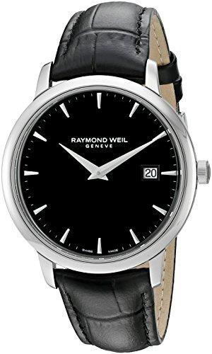 Raymond Weil Herren Analog Quarz Uhr mit Leder Armband 5488-STC-20001