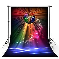 背景布 パーティー写真の背景パーティーの装飾とダンスフォトフォンのスタジオフォトアクセサリーのカラフルなライト-150x220cm
