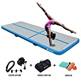 Air Track Gymnastics Tumbling Mat Inflatable Floor Mats with Electric Air Pump for Home...