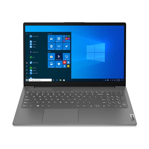 "Lenovo V15 ADA 82C7 - Portátil 15.6"" FullHD (Ryzen 5 3500U, 8GB RAM, 256GB SSD, AMD Radeon Vega 8 Graphics, Windows 10 Pro), Color gris - Teclado QWERTY español"